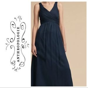 Anthropologie BHLDN Angie navy dress NWOT